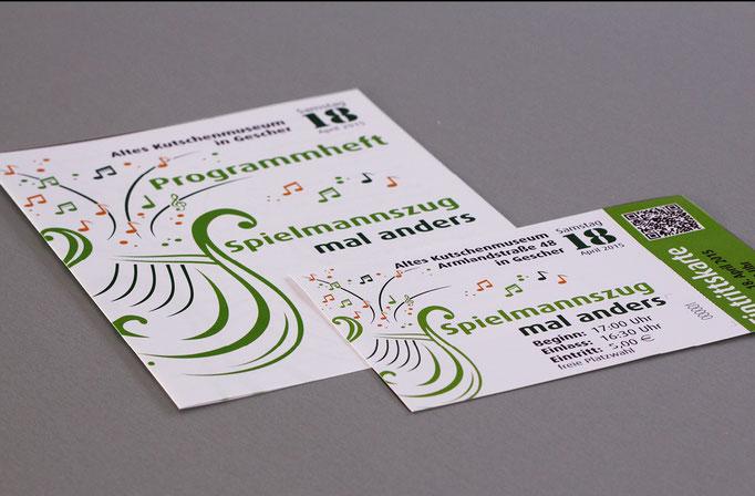 Programmheft und Eintrittskarten