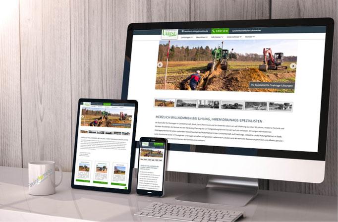Konzeption, Design, Koordination der Umsetzung der Unternehmens-Homepage. Die eindrucksvollen Fotos wurden auch von design for media gemacht