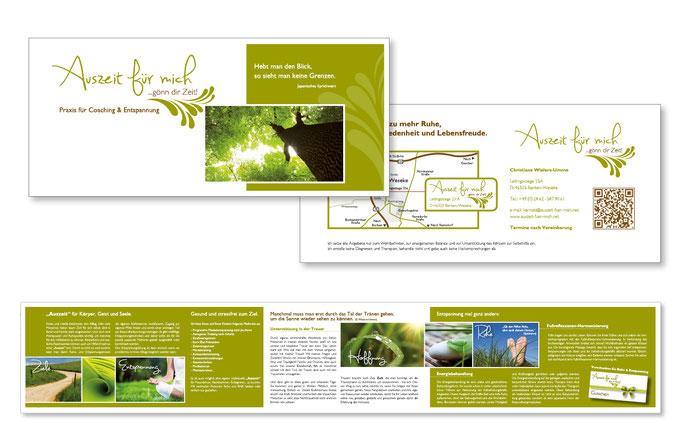 Konzept, Design, Umsetzung der Unternehmensflyer