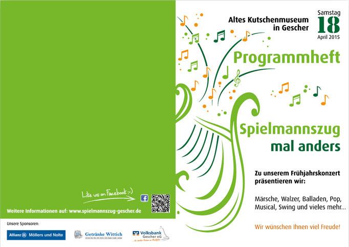 Programmheft - Titel und Rückseite - für Frühjahrskonzert