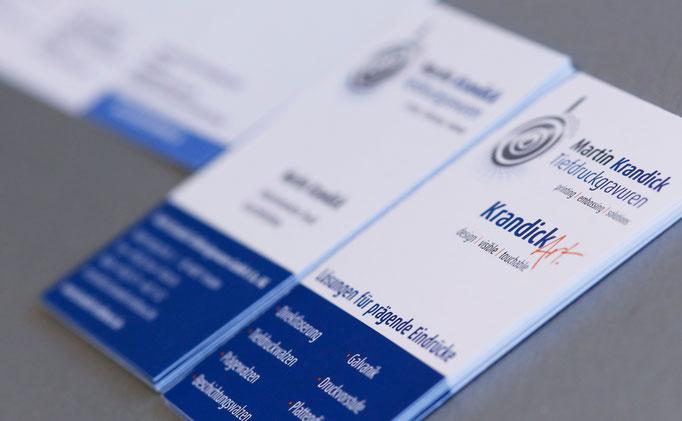 Visitenkarten mit Softfeel-Exklusiv-Veredelung