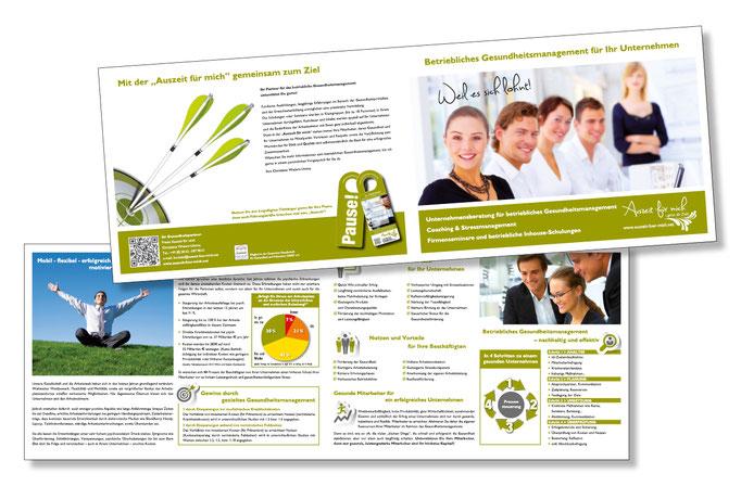 Konzept, Design, Umsetzung der Unternehmensbroschüre - Gesundheitsprävention