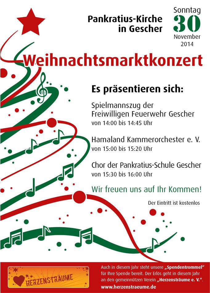 Plakatgestaltung für Weihnachtskonzert