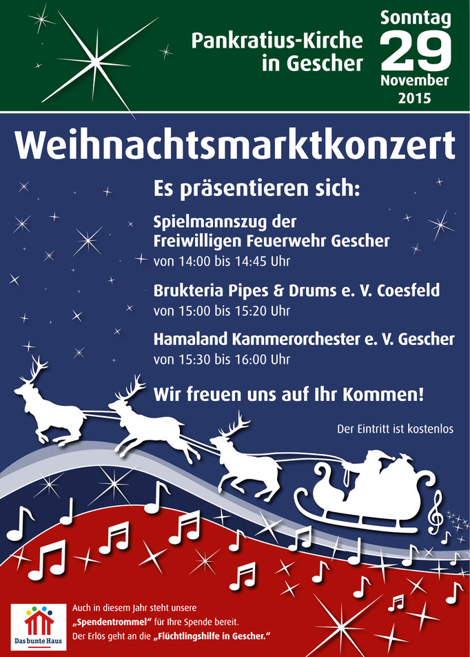 Poster für Weihnachtskonzert