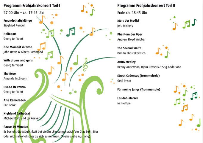 Programmheft - Innenseiten - für Frühjahrskonzert