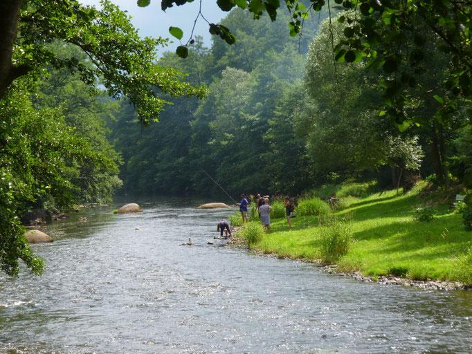 partie de pêche sur l'Ohre