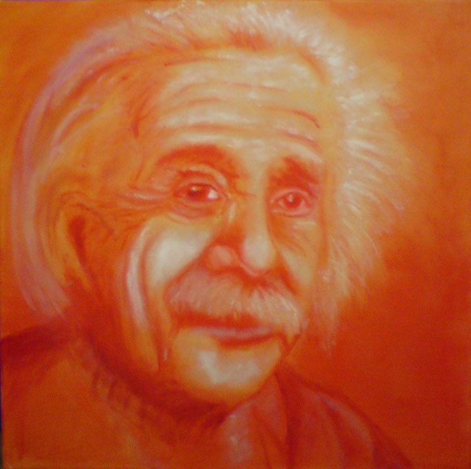 A. Einstein, orange