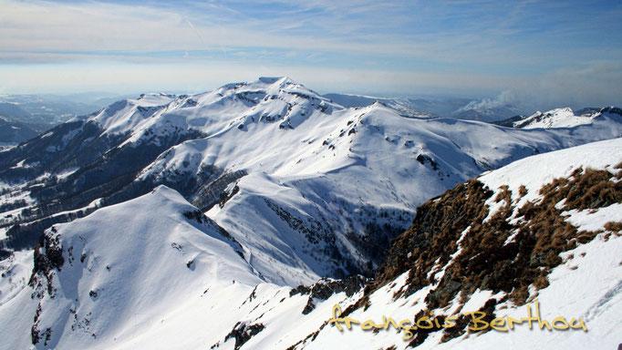 Chavaroche, Pourtoune, Roche noire vu du sommet du Puy Mary