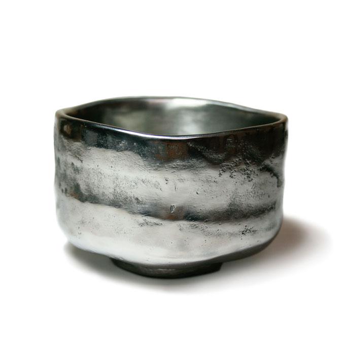 志野焼写鉄茶碗