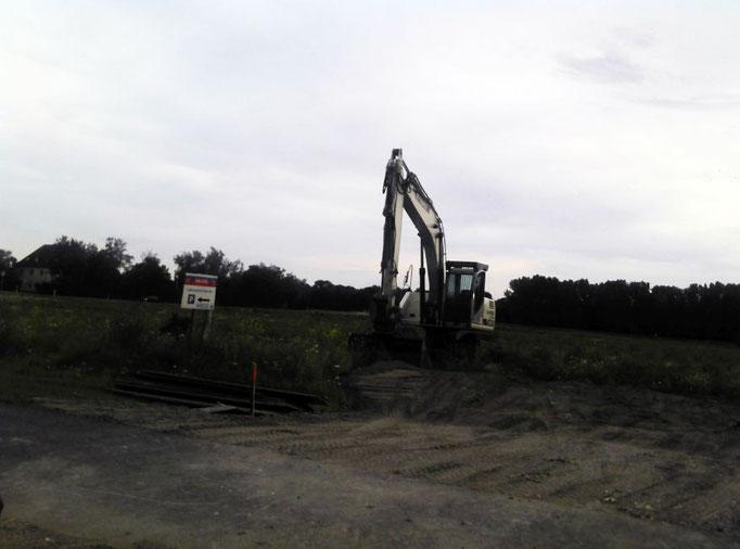 Baufläche im Juni 2011