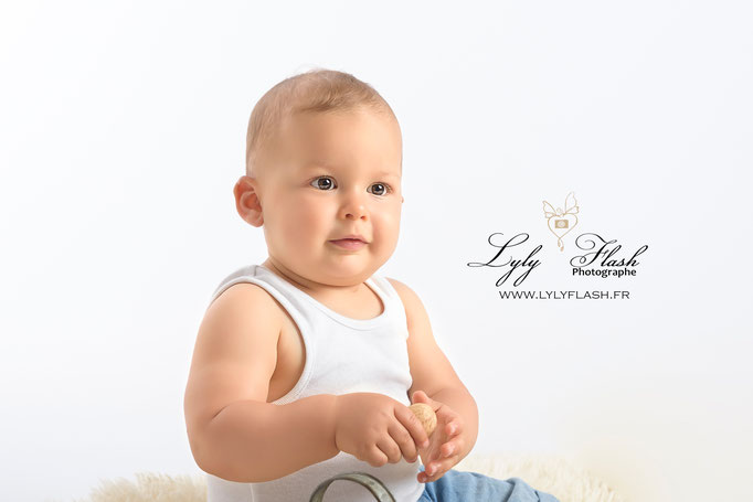 photographe Cannes photo bébé portrait d'art en studio