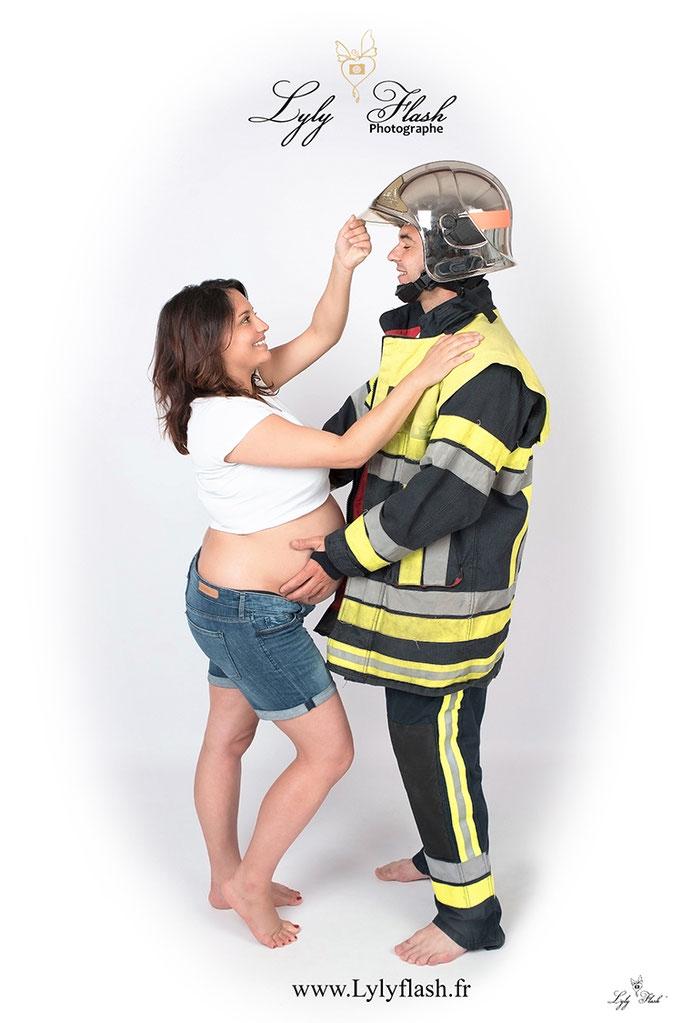 photographe grossesse pompier draguignan