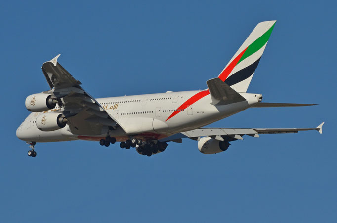 Emirates Airlines --- A6-EUK --- A380-861
