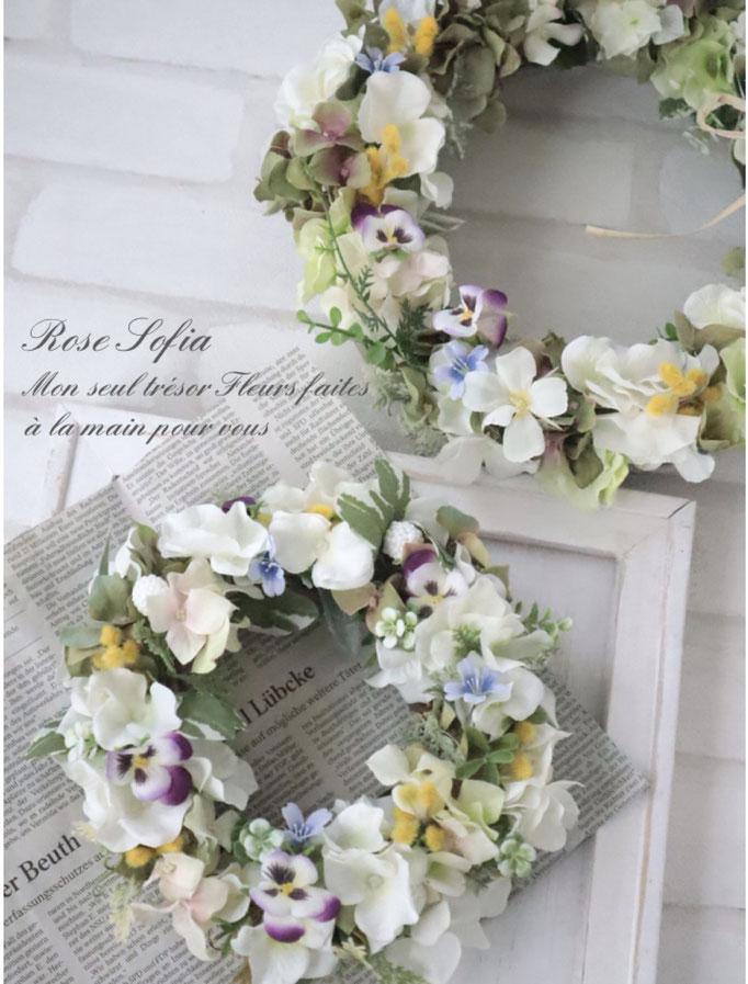 Viola Wreath(S) 20cm ¥5,000+税 (¥5,500) (L)30cm¥8,000+税 (¥8,800)