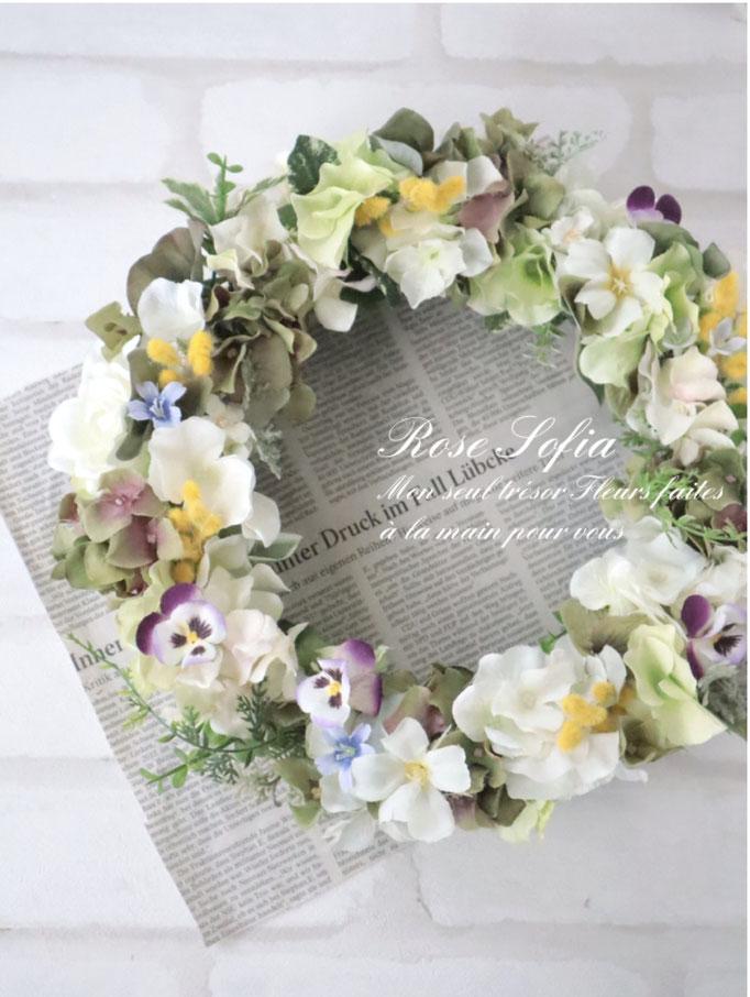 NEW! Viola Wreath (L)30cm¥8,000+税