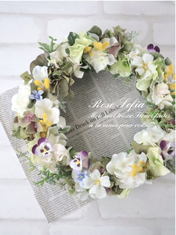 Viola Wreath (L)30cm¥8,000+税