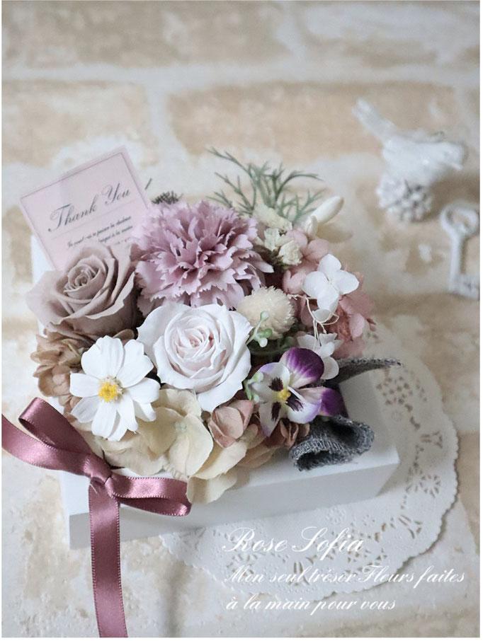 Pink & Gray arrangement 13x13xH10  ¥5,000+税 (¥5,500)