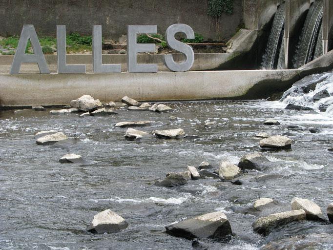 Alles im Fluss II, Stahl, 2010