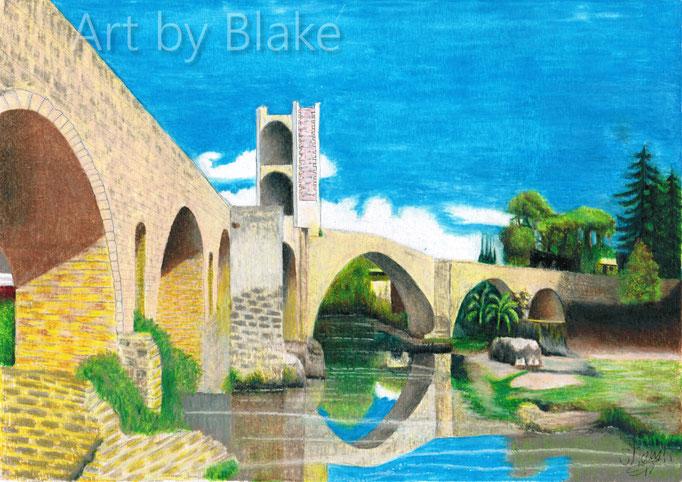 'Pont de Besalú' by Blake 2017