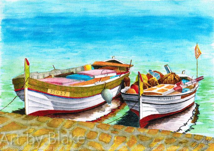 'Boats of Pedregalejo' by Blake 2016