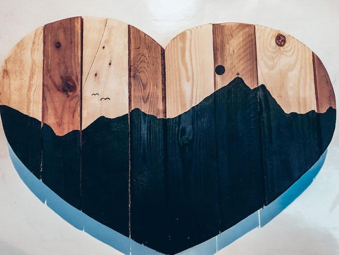 Palettenherz für Mountainlover