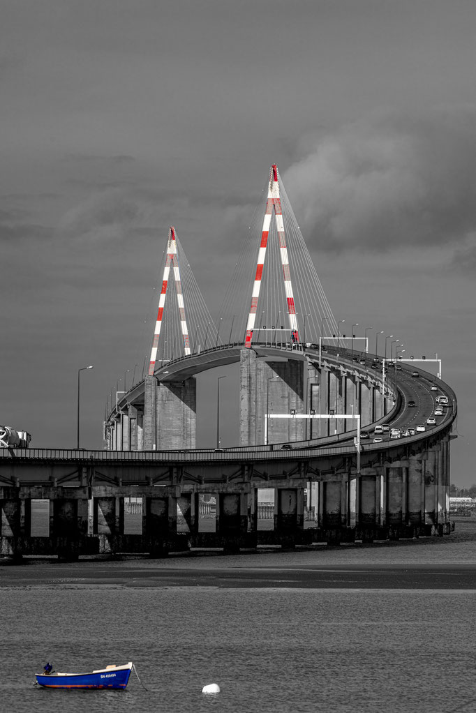 Saint-Nazaire 21 - Pont en N&B