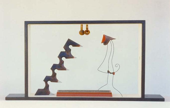 EL GRITO. 1994. 55 x 30 x 7 cm.  Mixed media.