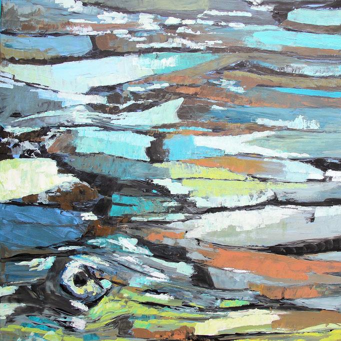 2, Acryl auf Baumwolle, 80 x 80 cm