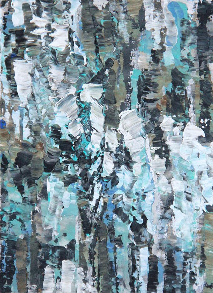 2, Acryl auf Karton, 14,9 x 21 cm
