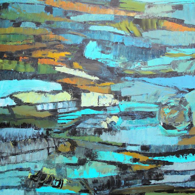 3, Acryl auf Baumwolle, 80 x 80 cm