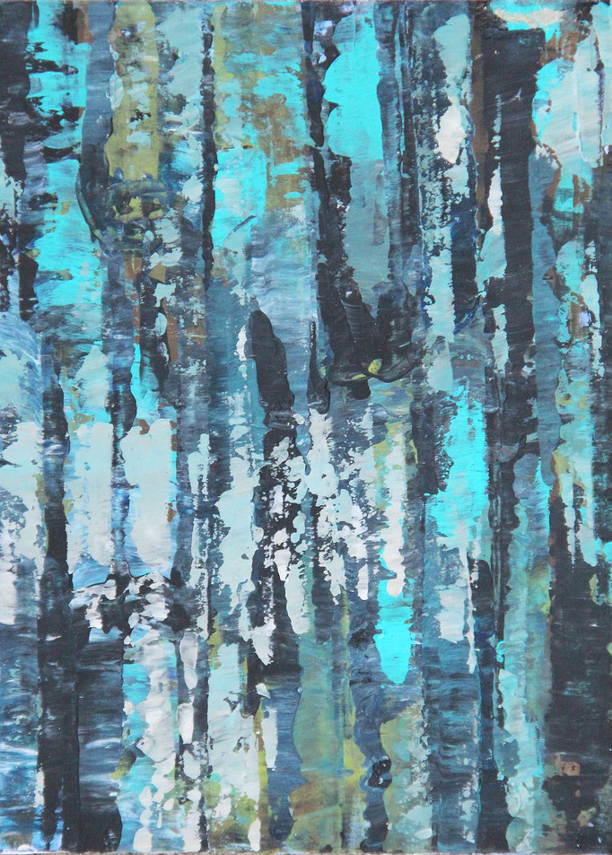 3, Acryl auf Karton, 14,9 x 21 cm