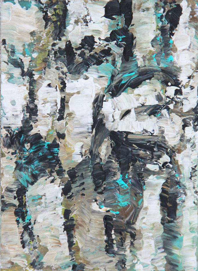 5, Acryl auf Karton, 14,9 x 21 cm