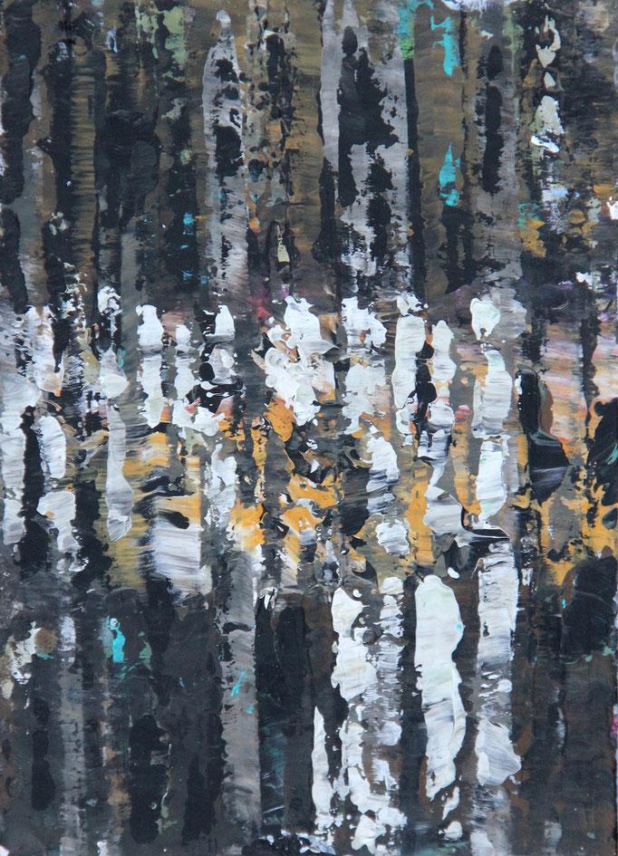 4, Acryl auf Karton, 14,9 x 21 cm
