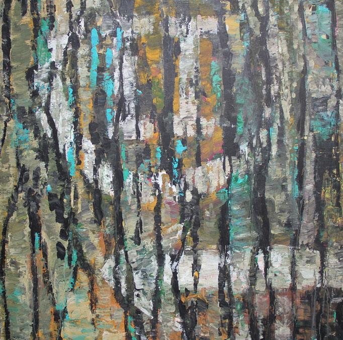 1, Acryl auf Baumwolle, 80 x 80 cm