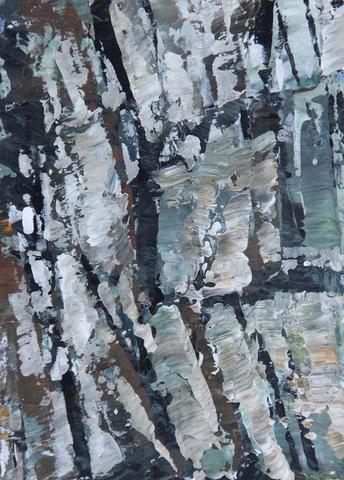 6, Acryl auf Karton, 14,9 x 21 cm