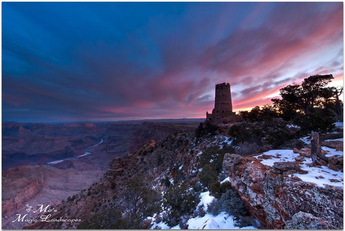 """Grand Canyon Watchtower at sunrise"" (2012)"