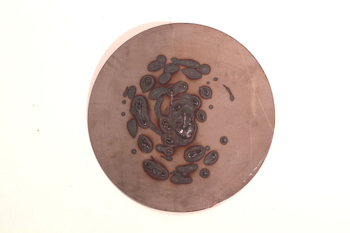 Creazione IV, 2017, 50 x 50 cm ferro