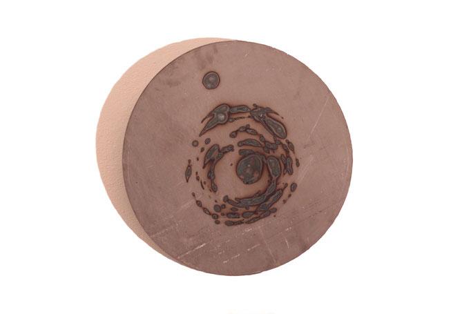 Creazione VI, 2017, 50 x 50 cm ferro