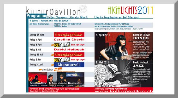 Layout + Redaktion Programmheft Kulturpavillon