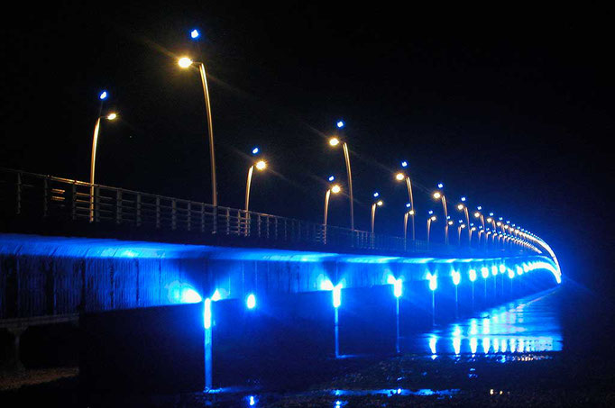 Ile d'Oléron, le pont la nuit