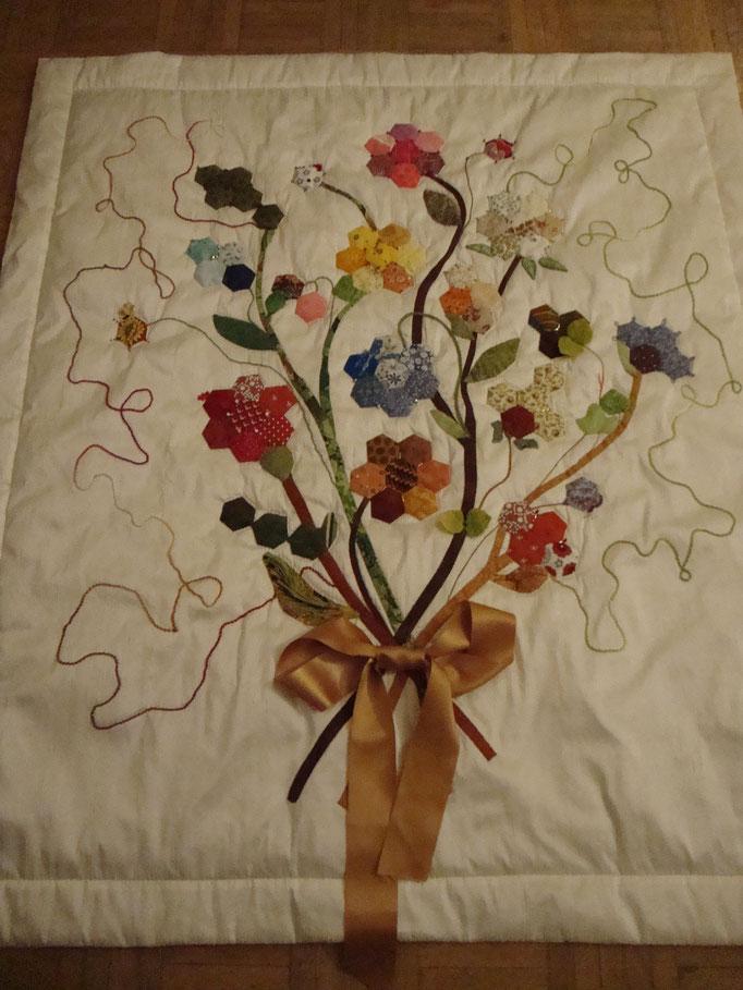 """Le bouquet de fleurs pour les 80 ans d""""André"""