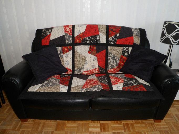 Le même patch sur un canapé