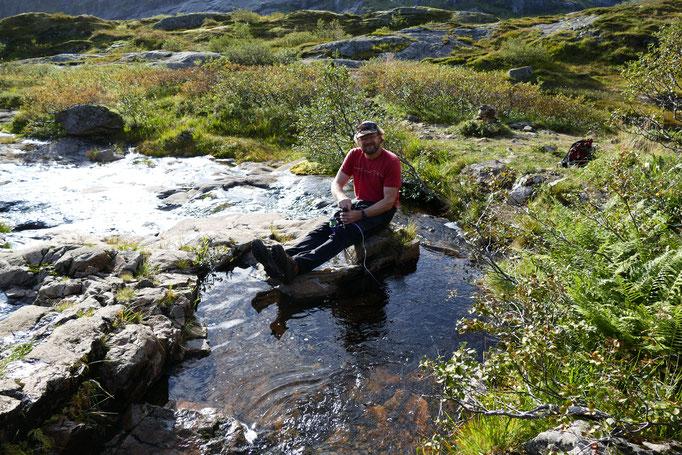 Unterwegs: Pit tankt Frischwasser