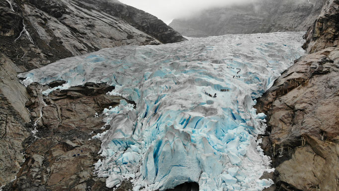 Der Nigardsbreen.... ein wunderschöner Gletscher. Leider wird auch der immer kleiner