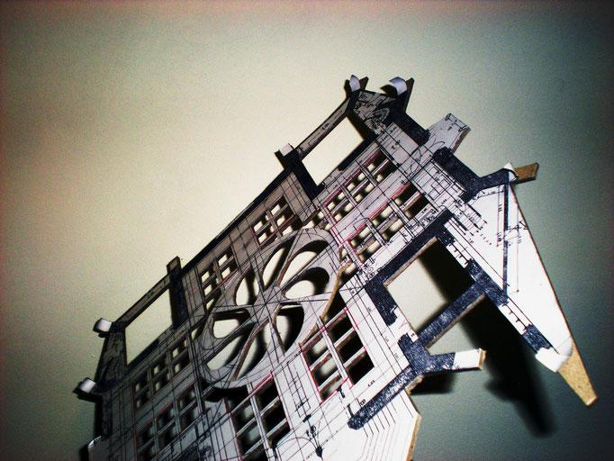 Dijon Vu Par: Parvis Saint Jean, création Hervé Arnoul: Élaboration