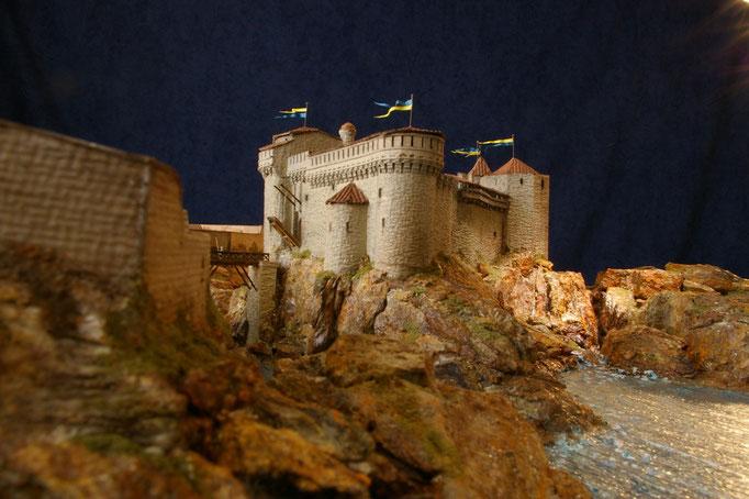 Reconstitution  Hervé Arnoul,Vieux Château de l'Île d' Yeu.