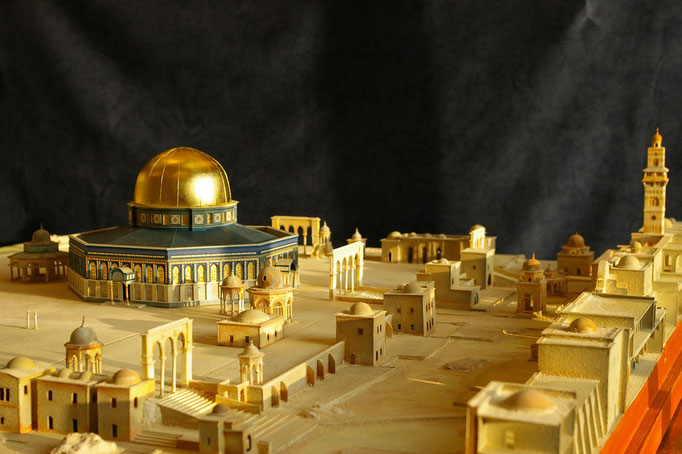 Dôme Du Rocher de Jérusalem Reconstitution Hervé Arnoul 1/200e. Construction