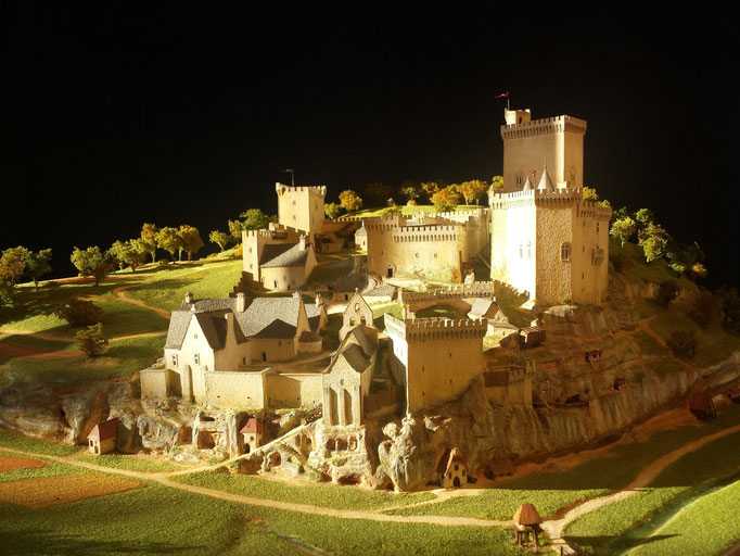 Interprétation  Chateau de Commarque réalisation Hervé Arnoul