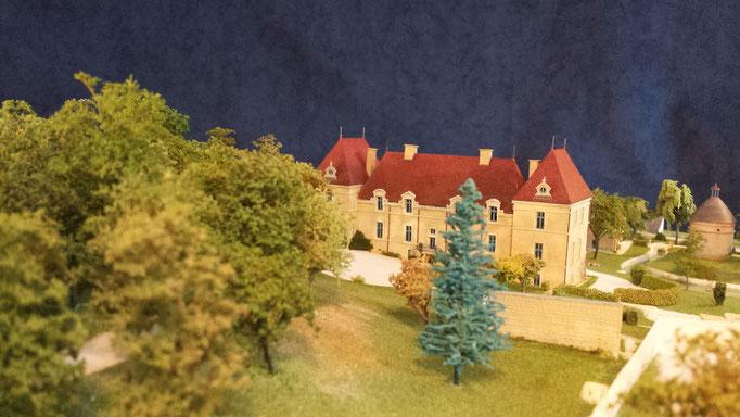 Château de Créancey, maquette 1/200e. Réalisation Hervé Arnoul. Collection Mr Young Singapour.