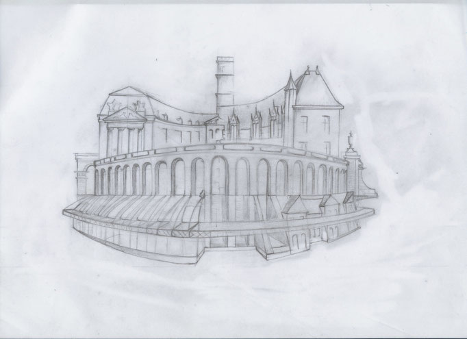 Dijon Vu Par 2012 Palais des Ducs. Création Hervé Arnoul :Avant projet.